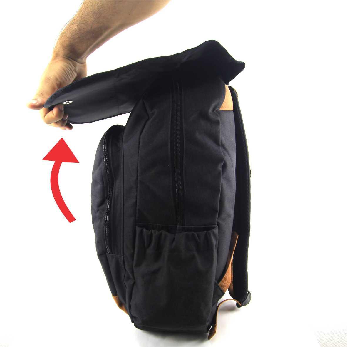 mochila de costas do snoopy Preta
