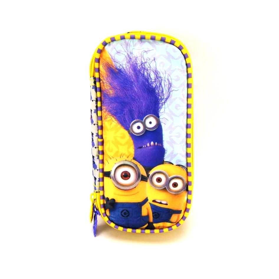 Estojo Escolar Minions Triple Fun ref 5765 Xeryus Kids