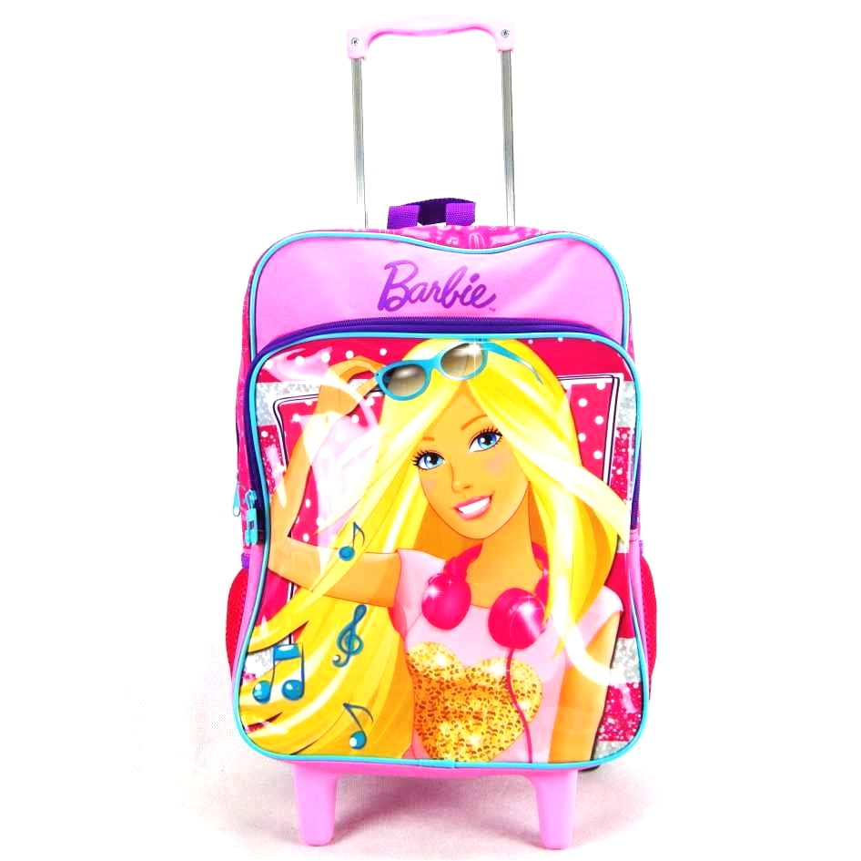 Mochila de Rodinha Barbie Shopping ref 063850 Sestini - Mochilete Infantil
