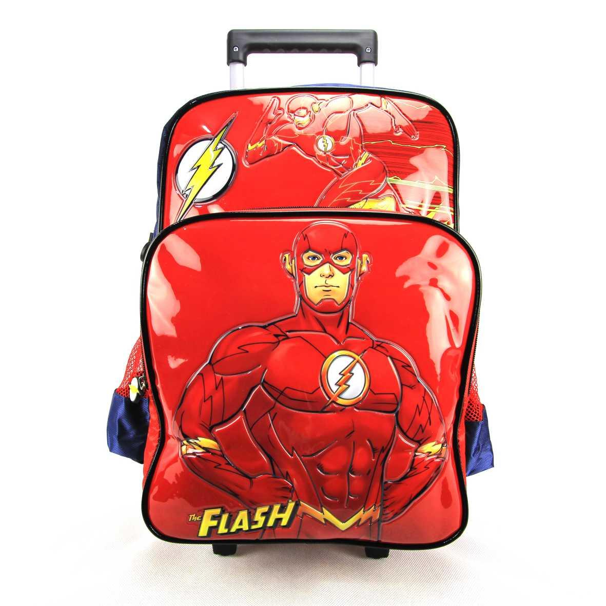 Mochila de Rodinha The Flash DC Comics Luxcel IC32922FM-AZ