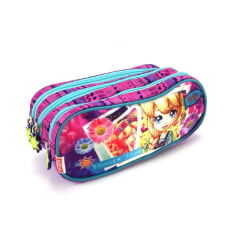 Estojo Escolar Polly Pocket Triplo ref 064085 Sestini