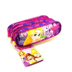 Estojo Escolar Rapunzel Enrolados Disney Princesa Triplo ref 37246 Dermiwil