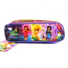Estojo Escolar Tinker Bell Fadas Disney Triplo ref 37072 Dermiwil