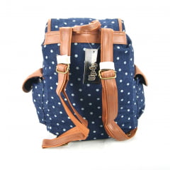 Mochila Com Tampa Up4you Bolinhas Luxcel MS45461UP