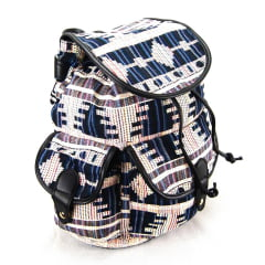 Mochila com Tampa Up4You Branco e Azul ref MS45388UP Luxcel
