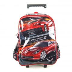 Mochila de Rodinha Corvette Vermelho Luxcel IC32432CV