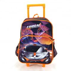 Mochila de Rodinha Força 4 Motorsport Laranja Luxcel IC31512FA