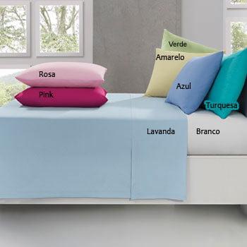 Lençol Avulso Santista - Queen - 100% Algodão - Várias cores