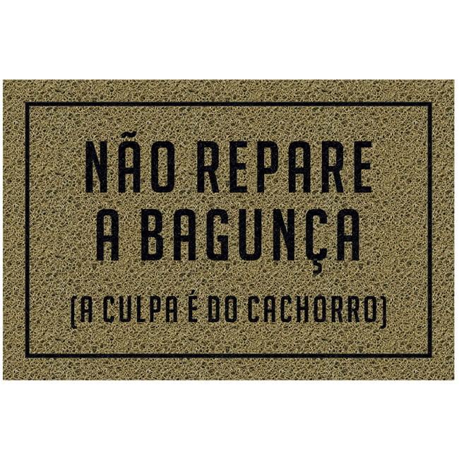 Capacho Retangular - Fibra de PVC - Não Repare - 40X60 cm