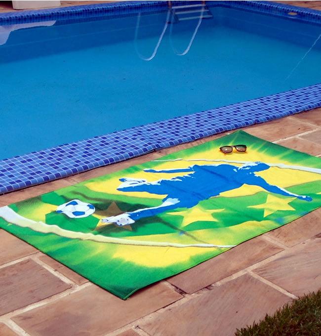 Toalha de Praia Karsten - 310g/m² - 100% Algodão - Gol