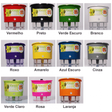 Kit Horta Autoirrigável Raiz - 4 vasos Pequenos e 10 Etiquetas