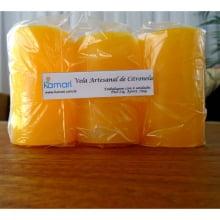 Vela Artesanal de Citronela - 125g - Embalagem com 6 Unidades