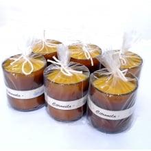 Vela Artesanal de Citronela - 90g - Ecológica - Embalagem com 6 Unidades
