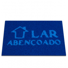 Capacho com Arte - Retangular - Fibra de PVC - Lar Abençoado - 40 X 60cm