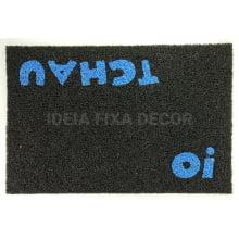 Capacho com Arte - Retangular - Fibra de PVC - Oi Tchau - 40 X 60cm