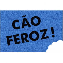 Capacho Retangular - Fibra de PVC - Cão Feroz - 40X60 cm