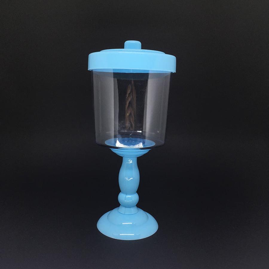 Baleiro Decorativo Azul Bebe 26 x 11,6 cm