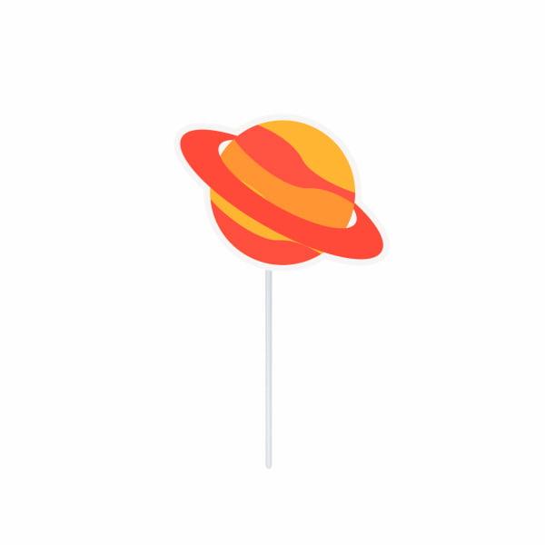 Topper Decorativo Planeta Astronauta - 10 unidades
