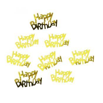 Confete Metalizado Happy Birthday Dourado - 15g