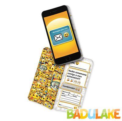 Convite Emoji - 8 unidades