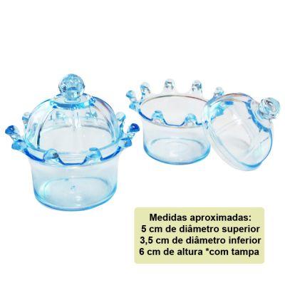 Mini Coroa para Lembrancinha Azul - 10 unidades