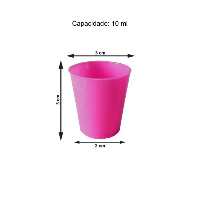 Mini Copinho para Brigadeiro Pink 10 ml - 50 unidades