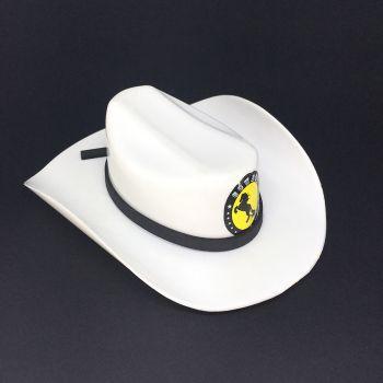 Mini Chapéu Cowboy de Plástico Branco