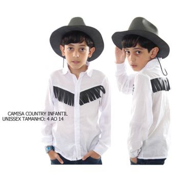 Camisa Country Infantil Branca