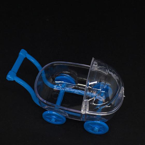 Mini Carrinho de Bebê Azul - 5 unidades