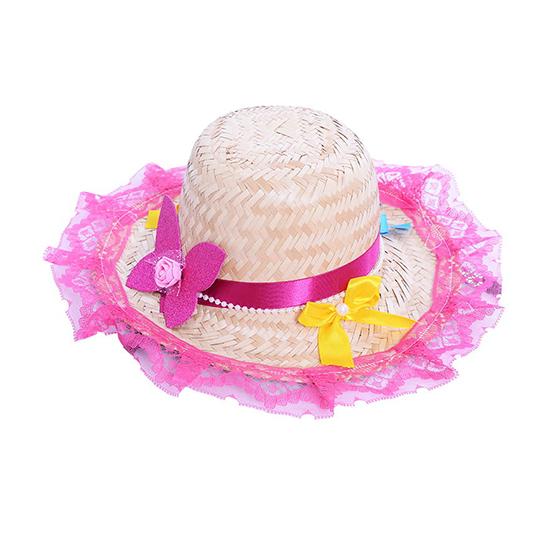 Chapéu de Palha Adulto Decorado Luxo