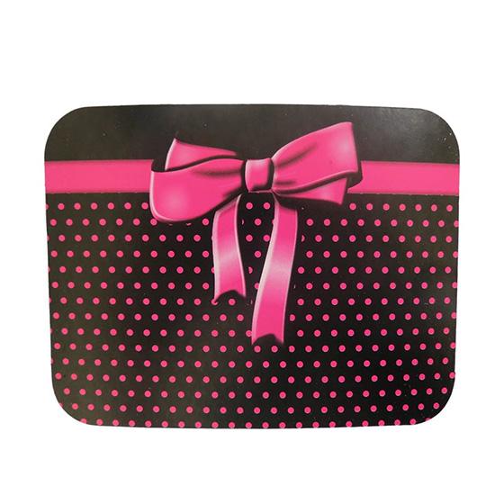 Tampa para Marmitinha Poá Laço Pink - 10 unidades