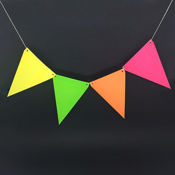 Bandeirolas Neon