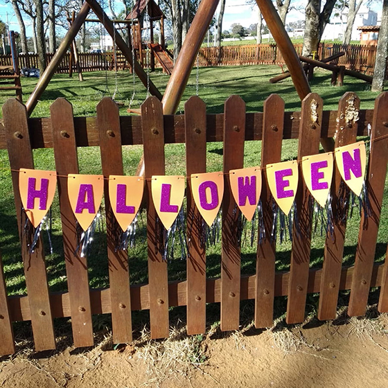 Flâmula Halloween Laranja