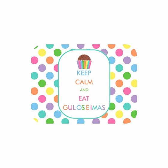 Tampa para Marmitinha Keep Calm and Eat Guloseimas - 12 unidades