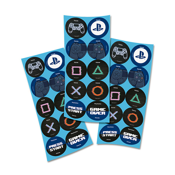 Adesivo Redondo Playstation  - 30 unidades