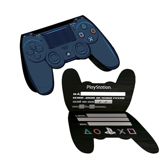 Convite Playstation- 8 unidades