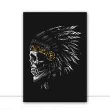 Native Skull por GoldBoy