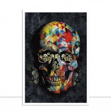 Quadro Skull Colours I por Joel Santos