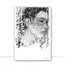 Grey Foliage Woman White por Joel Santos
