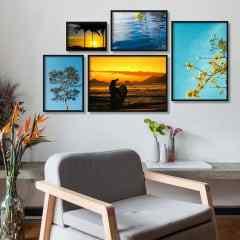 Composição de quadros  Sol e Praia por Brenda Marques