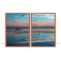 Conjunto de quadros Espelho d`água por Mafe Romero
