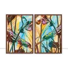 Conjunto de Quadros Foliage Colour III e IV Full