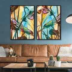 Conjunto de Quadros Foliage Colour III e IV Full por Joel Santos
