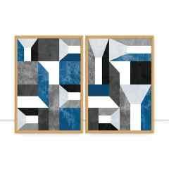 Conjunto de Quadros Geométrico V e VI por Juliana Bogo