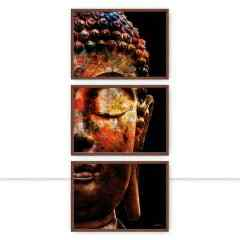 Conjunto de Quadros Buddha Color Trio