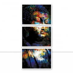 Conjunto de Quadros Buddha Color Trio II por Joel Santos
