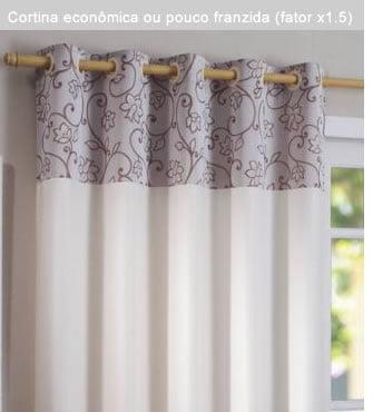 cortina pouco franzida