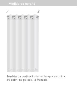 medida da cortina