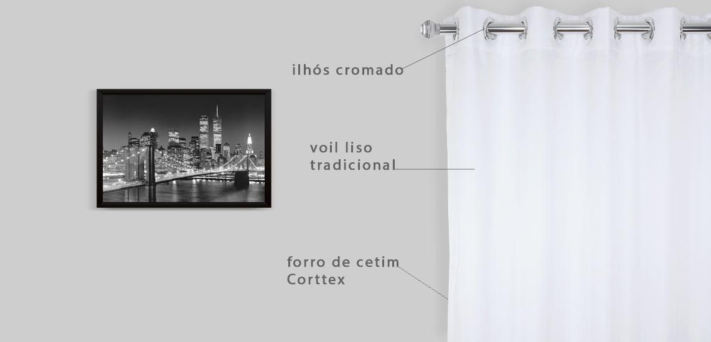 caracteristica da cortina moderna