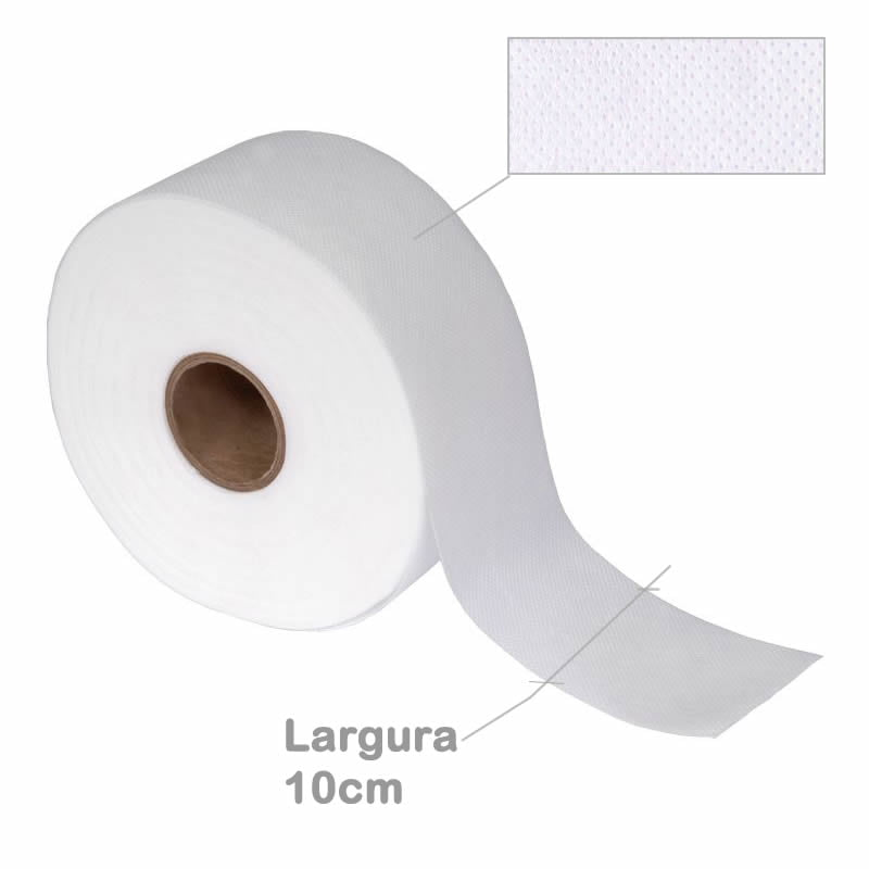 Entretela para cortina TNT 150g/m2 Larg. 10cm - rolo 150m